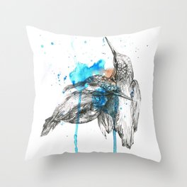 Kingfishers Throw Pillow