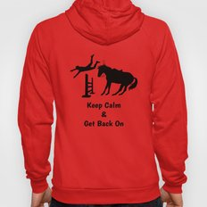 Keep Calm & Get Back On The Horse Black Hoody