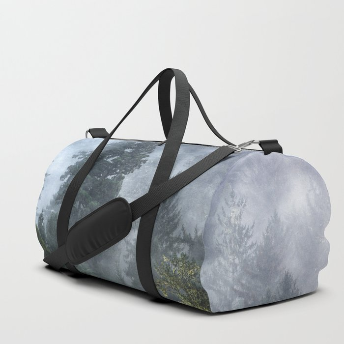 Smoky Redwood Forest Foggy Woods - Nature Photography Duffle Bag