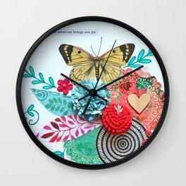Towards Joy Wall Clock