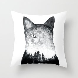Spacekitten Throw Pillow