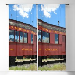 Red Railroad Car - Cumbres And Toltec Blackout Curtain