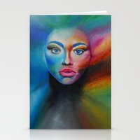 psychedelic Stationery Cards featuring Psychedelic  by Halinka H