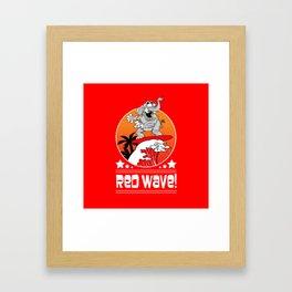 Republican Elephant Red Wave Midterm Vote 2018 Framed Art Print