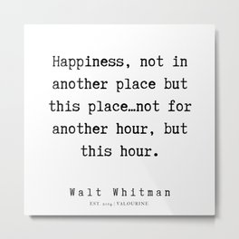 7     | Walt Whitman Quotes | 190803 Metal Print