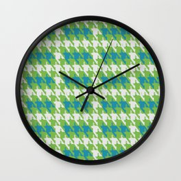 Where is the reindeer of Santa?_M  Lgray&Lime Wall Clock