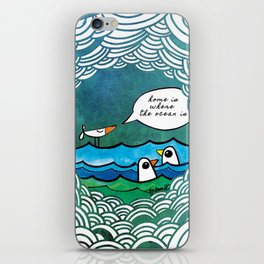 home is where the ocean is iPhone Skin