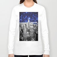 new york city Long Sleeve T-shirts featuring new york city. Blue Stars by 2sweet4words Designs