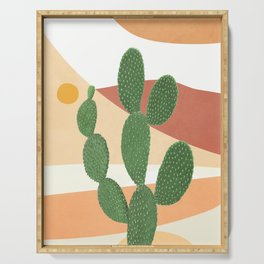Abstract Cactus II Serving Tray