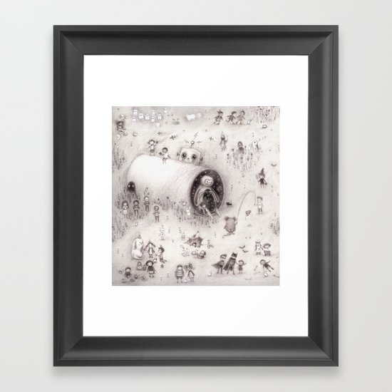 Big Crunch ( crop from spread 2.) Framed Art Print