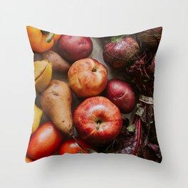Fresh Reds Throw Pillow
