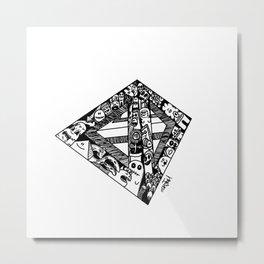 Monster Pyramid Metal Print