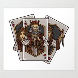 Poker Cards Getting Alive | Card Dealer Gambler Art Print