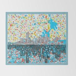 houston city skyline Throw Blanket