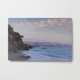 Blue Evening On Crete Metal Print
