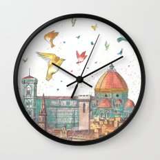 Colors of Florence Wall Clock