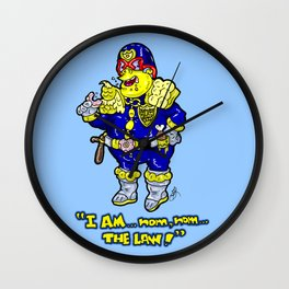 Judge Dredd as portrayed DEADFULLY my Chief Wiggum from The Simpsons Wall Clock