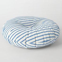 Texture - Sea Blue Stripes Floor Pillow