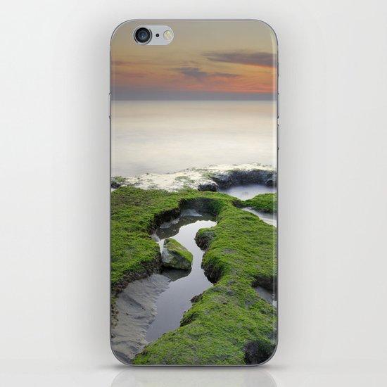Green, white a red coast iPhone & iPod Skin