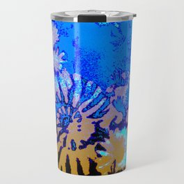Ammonite Abstract Mustard Travel Mug