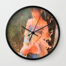Hiu Se contemplates life as a princess to be Wall Clock
