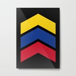 Chevron Equador, Venezuela & Colombia Flag Colors Metal Print