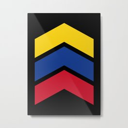 Chevron Equador, Venezuela & Colombia Flag Colors Metal Print