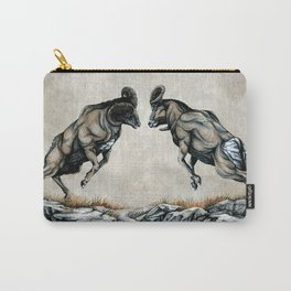 Fighting Bighorn Sheep Rams Carry-All Pouch