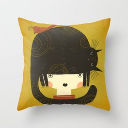 NAPPY HAT Throw Pillow
