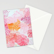 Tropical Palms in Citrus Stationery Cards