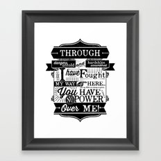 Labyrinth Quote You Have No Power Over Me Framed Art Print