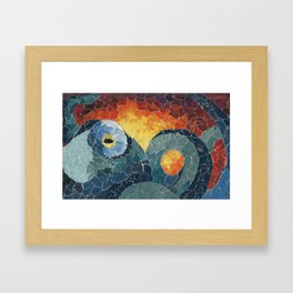 Octo Collage Framed Art Print