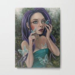 Luna Moth Tears Metal Print