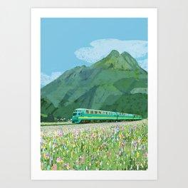 Spring train Art Print