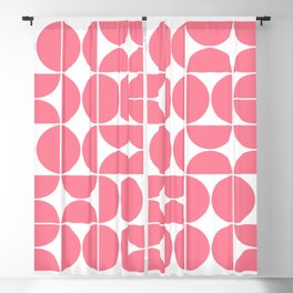 Mid Century Modern Geometric 04 Pink Blackout Curtain