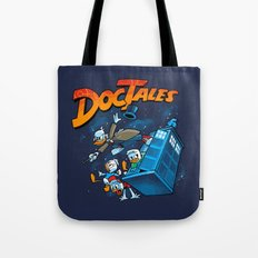 Doctales Dr Who/Ducktales Tote Bag