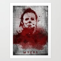 michael myers Art Prints featuring Myers by Colo Design