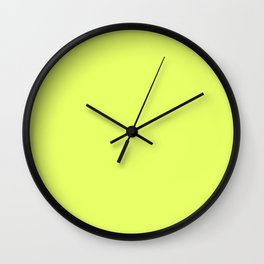 Light Yellow Daffodil Flower Solid Color Wall Clock