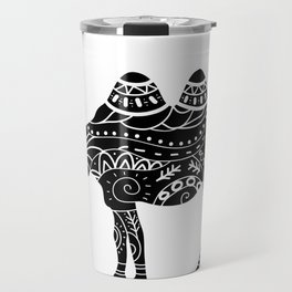 camel silhouette with tribal ornaments Travel Mug
