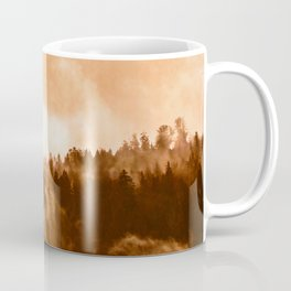 Clear away the fog to see the light. Sepia Coffee Mug