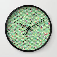 mexico Wall Clocks featuring Mexico by Camille Hermant