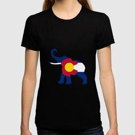 Colorado Republican Elephant Flag T-shirt