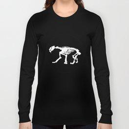 Saber toothed tiger skeleton Long Sleeve T-shirt