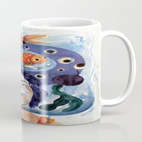 anxiety Mugs featuring Anxiety by NappingNinja