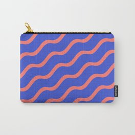 Red Waves in a Blue Sea Carry-All Pouch