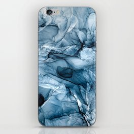 Churning Blue Ocean Waves Abstract Painting iPhone Skin