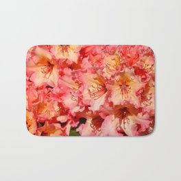 Coral colored rhododendrons Bath Mat