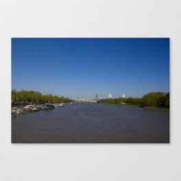The River Thames, London Canvas Print
