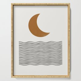 Moon by the ocean Serving Tray
