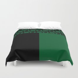 Abstract combo black and green decor Duvet Cover